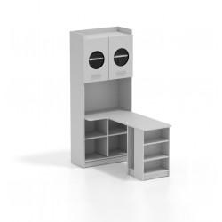 Regál s PC stolíkom RAJ 1