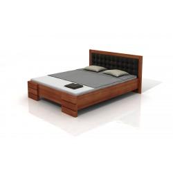 Vyššia buková manželská posteľ s UP 1