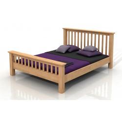 Buková manželská posteľ vo viacerých rozmeroch