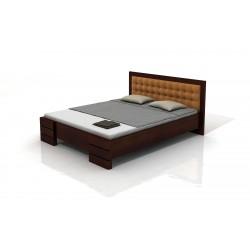 Vyššia buková manželská posteľ