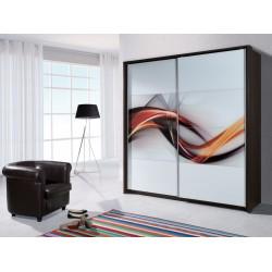 Skriňa s posuvnými dverami - sklo