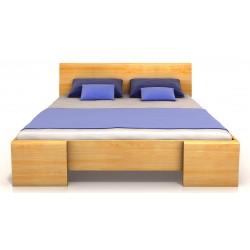 Vysoká masívna posteľ z borovice