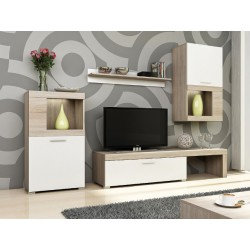 Obývačka vo farbe sonoma/biela