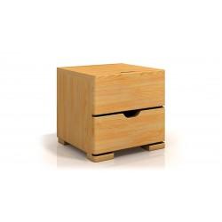 Dvojzásuvkový nočný stolík z borovice