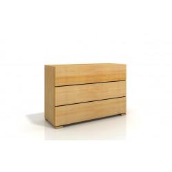 Komoda z borovice s tromi zásuvkami