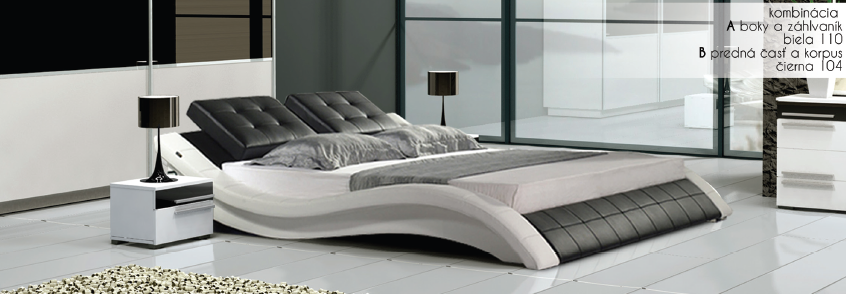 3ab12dd7a7b8 Moderná manželská posteľ Violet - Panda Nábytok