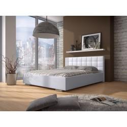 bf7469f1d579 Biela manželská posteľ s úložným priestorom
