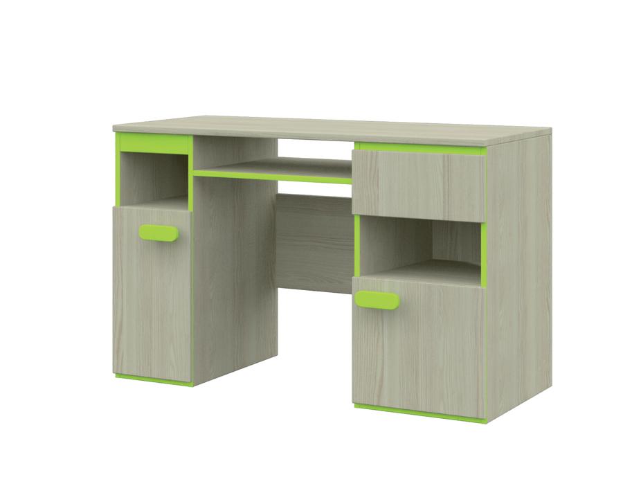 PC stolík - jaseň/zelená KLAUDIUS TYP 11