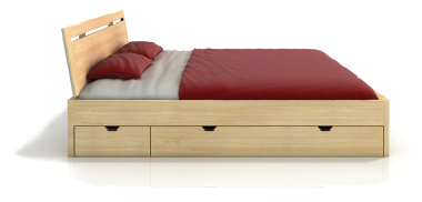 Buková masívna posteľ + UP SALERNO MAXI BUK + UP