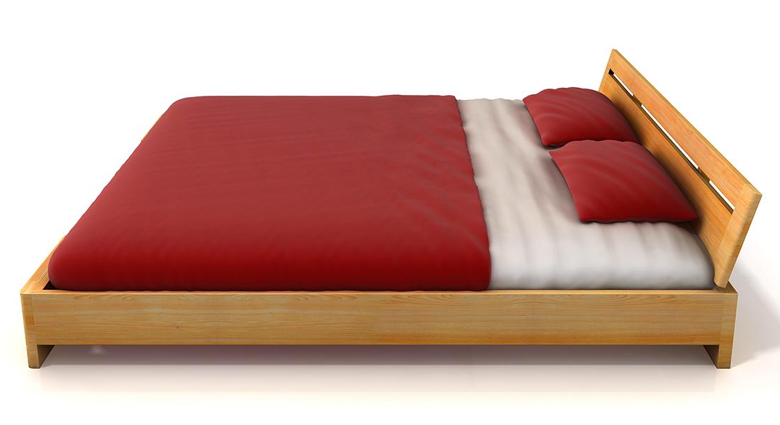 Masívna posteľ z borovicového masívu SALERNO BOROVICA