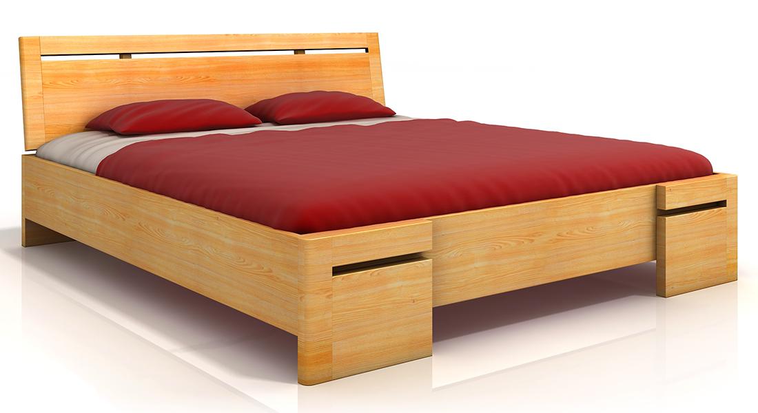 Mohutnejšia masívna posteľ z borovicového masívu SALERNO MAXI BOROVICA