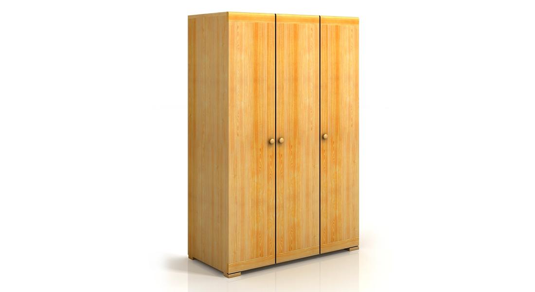 Trojdverová borovicová skriňa SALERNO SALERNO 3D BOROVICA