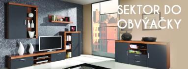 Sektorový nábytok do obývačky